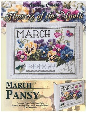 click here to view larger image of Flowers of the Month - March (chart)