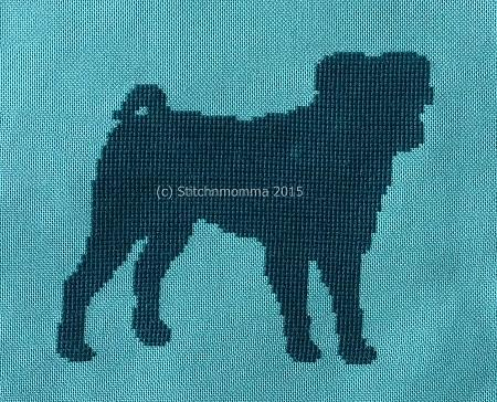 click here to view larger image of Dog Silhouette - Pug (chart)