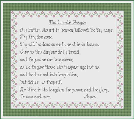 click here to view larger image of Lords Prayer, The (chart)