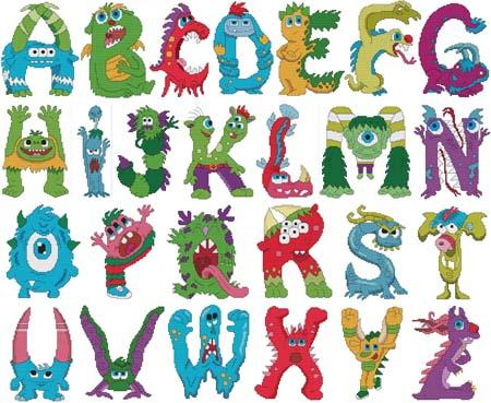 click here to view larger image of Monster Alphabet (book)