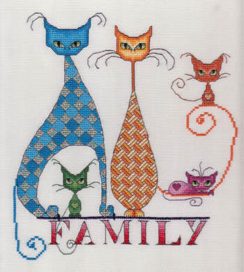 click here to view larger image of Cat Family (chart)
