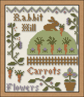 click here to view larger image of Rabbit Hill (chart with charms/buttons)