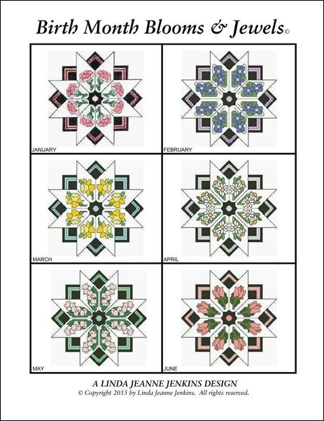 click here to view larger image of Birth Month Blooms and Jewels - All Twelve Booklet (book)