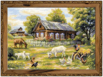 click here to view larger image of Afternoon In The Country (counted cross stitch kit)