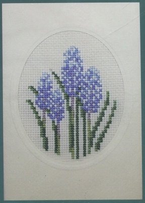 click here to view larger image of Floral with Card - Hydrangia (counted cross stitch kit)