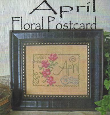 click here to view larger image of April - Floral Postcard (chart)