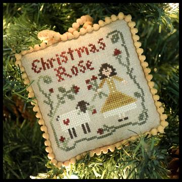 Christmas Rose - Sampler Tree Ornament 4 - click here for more details about chart
