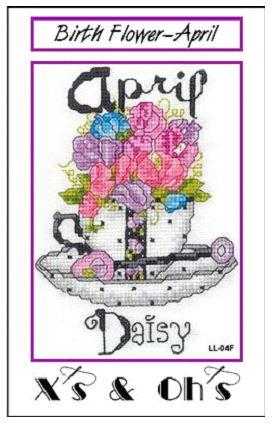 Teacup Flowers - April - click here for more details about chart
