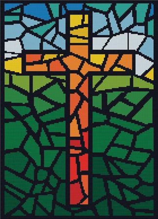 click here to view larger image of Stained Glass Cross (chart)