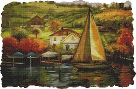 click here to view larger image of Countryside Painting (chart)