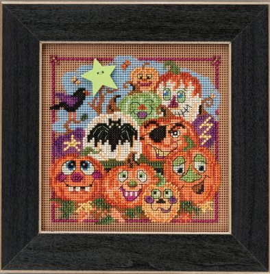 click here to view larger image of Painted Pumpkins (counted cross stitch kit)