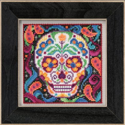 click here to view larger image of Sugar Skull (counted cross stitch kit)