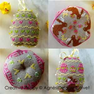 click here to view larger image of Little Easter Bunnies - 4 Small Ornament Motifs (chart)