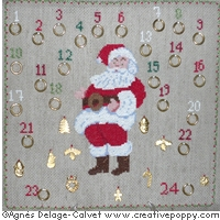 click here to view larger image of Santas Advent Calendar (chart)