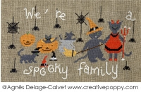 click here to view larger image of We're A Spooky Family! (chart)