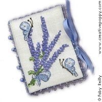 click here to view larger image of Lavender Bouquet Needlebook (chart)
