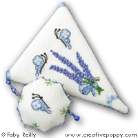 click here to view larger image of Lavender Bouquet Scissor Case (chart)