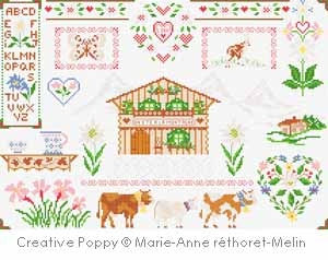 click here to view larger image of Alpine Chalet Patchwork (chart)