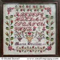 click here to view larger image of Maria Braillon 1877 Antique Sampler (chart)