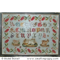 click here to view larger image of Antique Sampler With Poppies (chart)