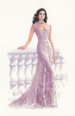 click here to view larger image of Francesca - Elegance Collection (Aida) (counted cross stitch kit)