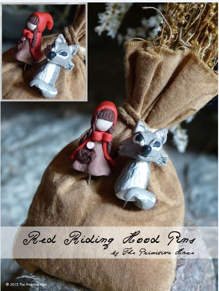 click here to view larger image of Red Riding Hood Pins (pin)