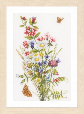click here to view larger image of Field Flowers (counted cross stitch kit)