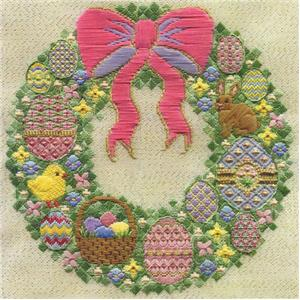 click here to view larger image of Springtime Wreath (counted canvas chart)