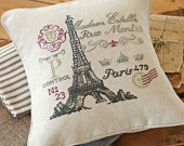 click here to view larger image of French Postcard - Sewn Pillow Cover (counted cross stitch kit)