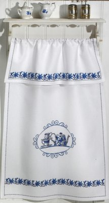 click here to view larger image of Blue Kitchen Hanging Design (counted cross stitch kit)