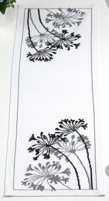 click here to view larger image of African Flower Table Runner (counted cross stitch kit)