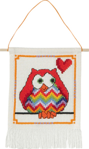 click here to view larger image of MFK Red Owl (counted cross stitch kit)