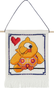 click here to view larger image of MFK Yellow Owl (counted cross stitch kit)