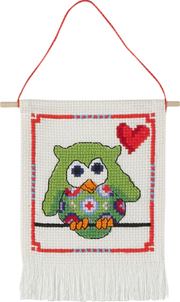 click here to view larger image of MFK Green Owl (counted cross stitch kit)