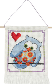 click here to view larger image of MFK Blue Owl (counted cross stitch kit)