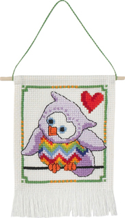click here to view larger image of MFK Purple Owl (counted cross stitch kit)