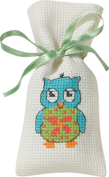 Blue Owl - click here for more details about counted cross stitch kit