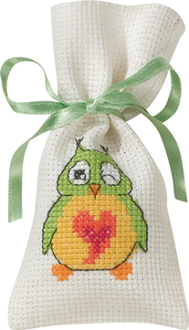 click here to view larger image of Green Owl (counted cross stitch kit)