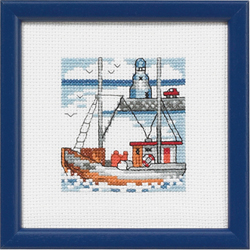 click here to view larger image of Blue Lighthouse (counted cross stitch kit)