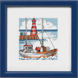 click here to view larger image of Red Lighthouse (counted cross stitch kit)