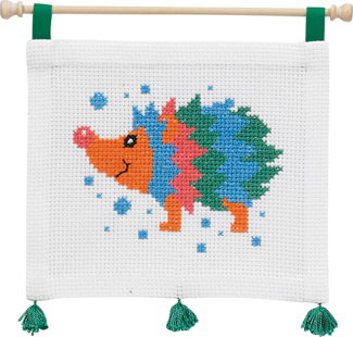 click here to view larger image of MFK Hedgehog (counted cross stitch kit)