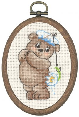 click here to view larger image of Fish Teddy (counted cross stitch kit)