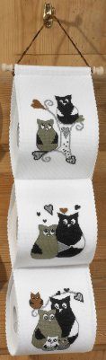 click here to view larger image of Owl Love and Family (counted cross stitch kit)