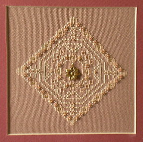 click here to view larger image of Antique Lace Flower No 2 (chart with charms/buttons)