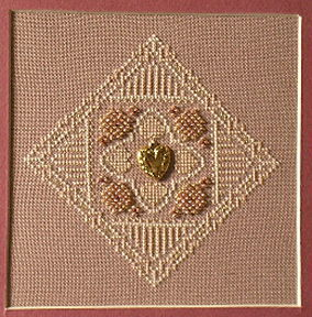 click here to view larger image of Antique Lace Heart No 2 (chart with charms/buttons)