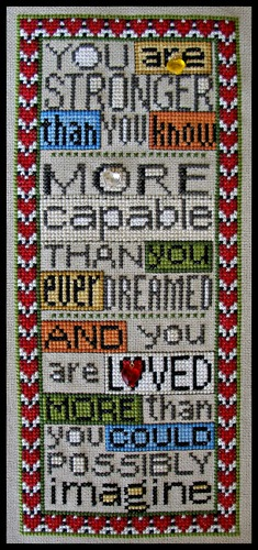 click here to view larger image of Charmed You Are Loved (chart with charms/buttons)