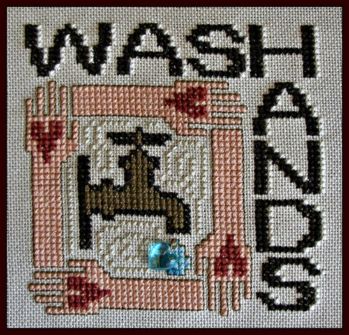 click here to view larger image of Charmed Wordplay - Wash Hands (chart with charms/buttons)