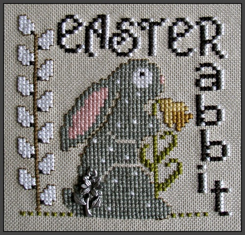 click here to view larger image of Charmed Wordplay Easter Rabbit (chart with charms/buttons)