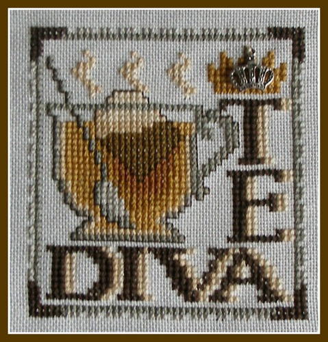 click here to view larger image of Charmed Wordplay Tea Diva (chart with charms/buttons)