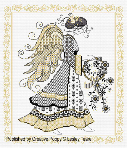 click here to view larger image of Blackwork Angel (chart)